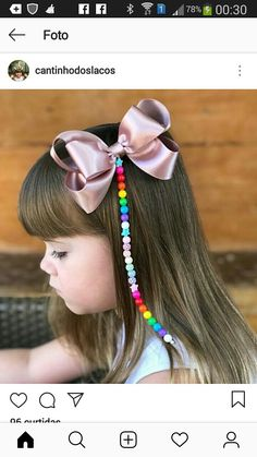 Como Fazer Laço de Fita de Cetim: 31 Modelos com Passo a Passo Ribbon Hair Bows, Diy Hair Bows, Diy Hairstyles, Pretty Hairstyles, Making Hair Bows, Boutique Bows, Diy Hair Accessories, Bandeau, Hair Jewelry