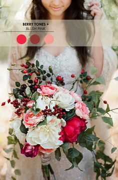 Berry Tones + Blush Pink // 5 Winter Wedding Color Palettes - www.theperfectpalette.com - Color Ideas for Weddings + Parties