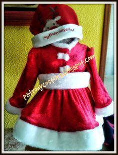 patrón y costura : vestido Santa Claus bebé -tema 71
