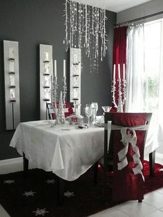 christmas setting for 2 - this will be Kyle and I this year!