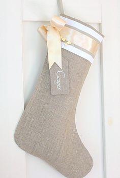 Pet Christmas stockings Personalized burlap by KatysHomeDesigns, $38.00