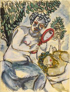 Marc Chagall (1887-1985)   Samson and Delilah (Le miroir), 1912