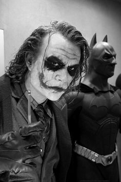 Heath Ledger and Christian Bale - 'The Dark Knight', 2008. THE BEST MOVIE EVER. THE NUMBER 1 IN MY MOVIE TOP TEN FOR ALL THE TIMES.