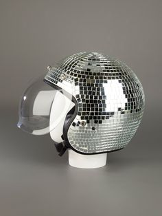 Thanks J for this one. I would love this disco ball helmet and wouldn't be ashamed to wear it!