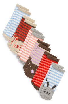 Free shipping and returns on Tucker + Tate 'Animal' Socks (6-Pack) (Baby Girls) at Nordstrom.com. Friendly animal faces charm a colorful set of stretchy, comfy socks.