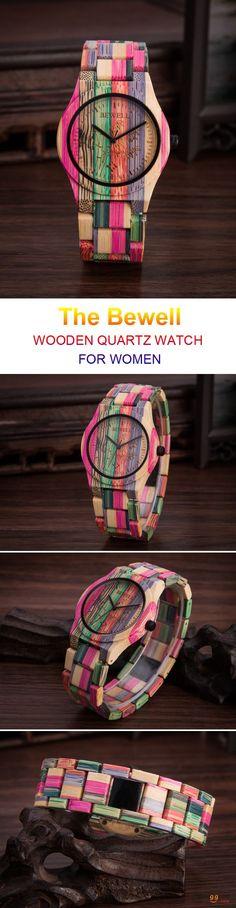 US$25.99 + Free shipping. Band Material Type: Bamboo. Best choice for women. SHOP NOW! Bewell Casual Wooden Quartz Watch Fashion Full Bamboo Women Wrist Watch. #fashiongiftsforwomen