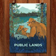 Public Lands Make America Great by Amanda Lenz Wilderness Society, Amanda, Public, Wellness, America, Inspired, Artist, Prints, Poster