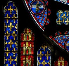 Chartres Cathedral Stained Glass - Bay 121 (The North Transept Rose)