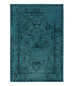 Look at this Teal Ornate Renaissance Rug on #zulily today!