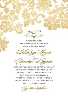 Luscious Lacing - Signature White Wedding Invitations - Coloring Cricket - Umber - Brown : Front
