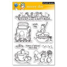 """Set de Sello Acrílicos """"Micey Day"""" de Penny Black. CardmakingMania"""
