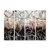 Found it at Wayfair - 'Graffiti' by Justin Strom 4 Piece Original Painting on Metal Plaque Set