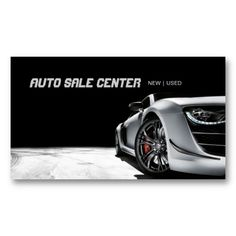 Auto Dealer Business Card - Business Cards, Invitations, Post ...