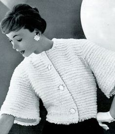 Loop Jacket. This free pattern originally published in The Jubilee Collection, Book No. 738.