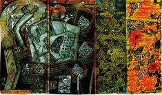 Artist of the Day  C. Douglas  Blind Poet & the Butterflies I 2011 mixed media on paper mounted on canvas 36 x 60 inches