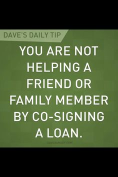 Dave Ramsey. or giving them a house! They will forget your generosity as soon as it's convenient!