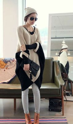 Fashion Design Women's V-Neck Long Sweater