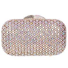 4f08f7331e Fawziya Hollow Out Rhinestone Women Clutch Purse Crystal Evening  BagColorful Gold *** You can