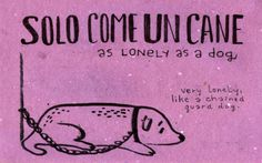 Solo come un cane = As lonely as a dog