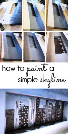 EASY DIY PAINTING! Follow this tutorial to learn how to paint a simple city skyline in under an hour!