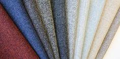 Nesvik. Lett og slitesterkt tekstil i ull. Et lite paisleymønster gir den et spesielt og unikt utrykk og den kan fint kombineres med Sjøvik. Designer: Kristina D. Aas