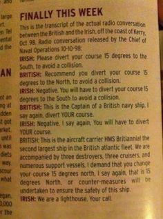 British vs. Irish