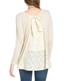 This Avenue Hill Ivory & Lace Split Back Tunic by Avenue Hill is perfect! #zulilyfinds