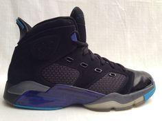 428817-001 NIKE AIR JORDAN 6-17-23  MEN'S SIZE 13 SHOES BLACK/ CONCORD DARK GREY #Nike #BasketballShoes
