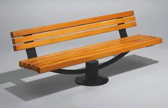 park bench seating in timber and steel by Versa street furniture