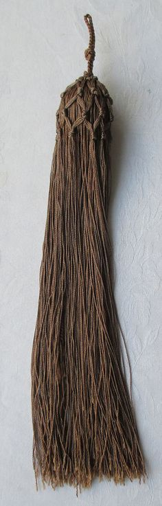 Vintage Taupe Colored Tassels Silk Wrapped Bobble Netted French