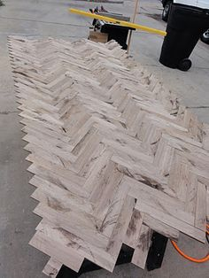 Another herringbone table how to
