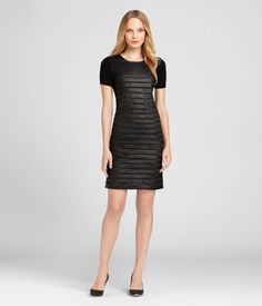 With this LBD, the beauty is in the texture of the woven leather bodice: Women's 'Linda' Dress by Elie Tahari - elietahari.com