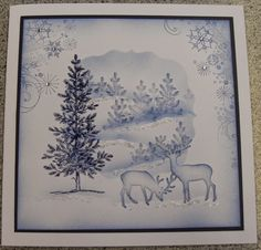inkylicious christmas tree cards - Google Search