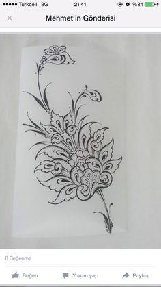 Çini Islamic Art Pattern, Arabic Pattern, Mandala Pattern, Pattern Art, Dress Design Drawing, Jewelry Design Drawing, Motif Design, Mandala Design, Ebru Art