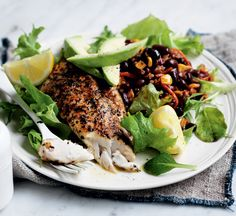 Make weeknight dinners simpler with this spiced fish recipe, cooked and on your table in under half an hour - plus it's a great source of Fish Recipes, Seafood Recipes, Healthy Recipes, Healthy Food, Salmon Potato Cakes, Healthy Anzac Biscuits, Pork Larb, Homemade Baked Beans, Healthy Stir Fry