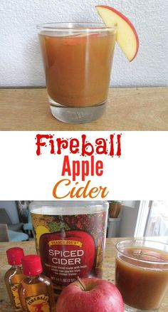 Fireball Apple Cider - The Skinny Chick's Cookbook Fireball Hot Apple Cider Fireball Drinks, Fireball Recipes, Alcohol Recipes, Drink Recipes, Alcoholic Beverages, Fireball Apple Cider Recipe, Baileys Drinks, Whiskey Recipes, Meals