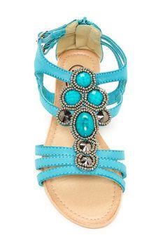Carrini Strappy Embellished Sandal on HauteLook
