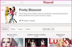 We have Pinterest! Pretty Blossom is growing! Thank you.