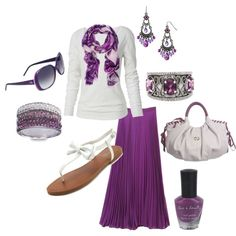 Purple and White - Polyvore