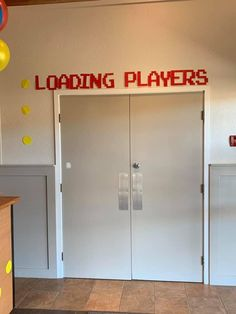 Doorway sign for video game themed VBS. - Video Games - Ideas of Video Games - Doorway sign for video game themed VBS. Fun Video Games, Video Game Decor, Video Game Party, Video Game Rooms, Retro Video Games, Party Games, Video Game Wedding, Video Game Crafts, Retro Games