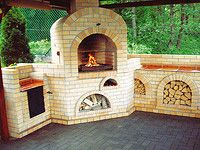 Brick garden/outdoor fireplace with grill and smoker. Outdoor Oven, Outdoor Cooking, Fire Cooking, Backyard Kitchen, Backyard Patio, Outside Living, Outdoor Living, Brick Grill, Fire Pit Pizza
