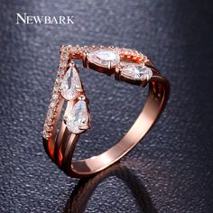 Find More Rings Information about NEWBARK Luxury V Shaped Ring Prongs 4pcs…