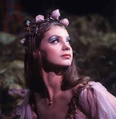 """New York City Ballet production of movie version of """"A Midsummer Night's Dream"""" with Suzanne Farrell as Titania, choreography by George Balanchine (New York)"""