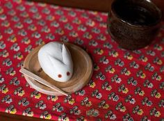 getting pumped for tsukimi 🐰🌾🍡( the mid autumn moon festival celebrated in japan in september. everything is bunny and moon themed because of the japanese tale of a rabbit living on the moon who pounds mochi up high in the sky. the crater marks were thought to resemble this visual.) 🎑