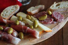 Croatia Appetizer Pršut (Dry cured ham)