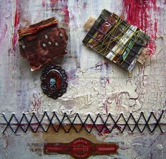 Debrinas Altered Art Diary - book art with book marks
