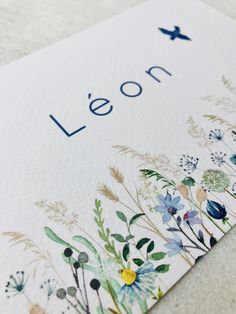 Watercolor Ideas, Watercolour Painting, Baby Number 2, Wildflowers, Happy Birthday, Bloom, Invitations, Photo And Video, Business