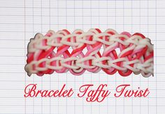 Le Taffy Twist Suivez les explicationsen vidéodeRainbow Loom Creativepour savoir comment réaliserlebracelet Taffy Twist, un modèle niveau facile fait avec des élastiques Rainbow Loom, à faire avec les couleurs de votre choix.Pour ce modèle, observez la démonstration. Attention, les instructions de cette vidéo sont en anglais.