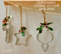 I am in love with mercury glass... and Christmas cookie cutters, too!   I found loads of ideas for decorating with cookie cutters and se...