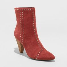 3d0a96c42ccc Women s Lona Microsuede Studded Heeled Bootie - Universal Thread™